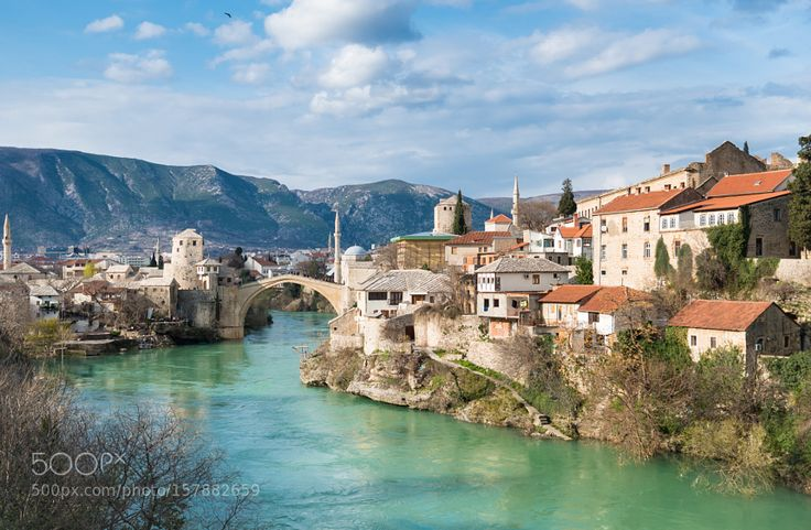 "Famous Mostar bridge in Bosnia and Herzegovina on Go to http://iBoatCity.com and use code PINTEREST for free shipping on your first order! (Lower 48 USA Only). Sign up for our email newsletter to get your free guide: ""Boat Buyer's Guide for Beginners."""