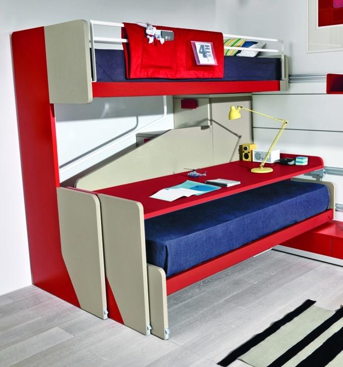 Posuvný dětský nábytek ZALF http://zalf.cz - Unikátní italský dětský nábytek do studentského pokoje.