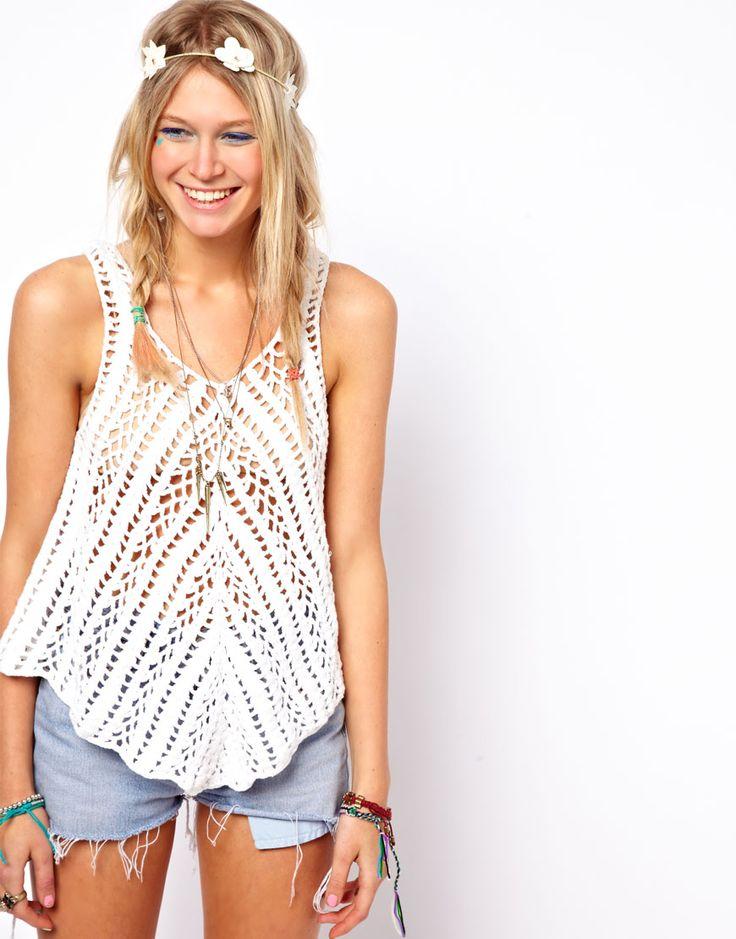 ASOS | ASOS Crochet Village Swing Vest at ASOS
