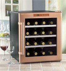 Wine Enthusiast 16 Bottle Wine Refrigerator Copper