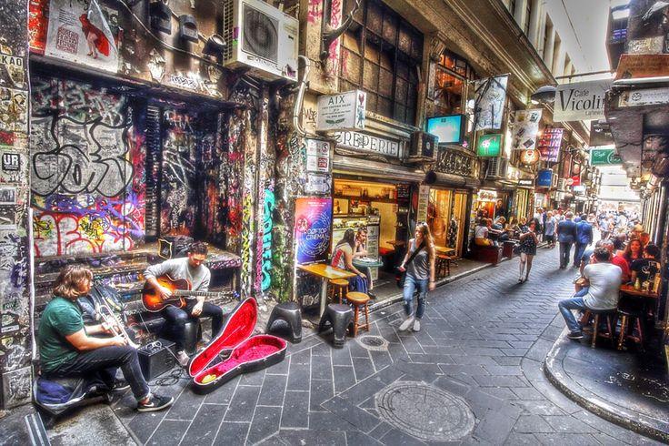 Side streets of Melbourne, Australia