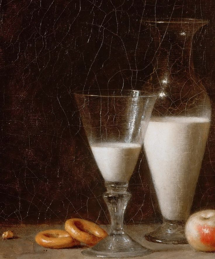 .:. ROLAND DE LA PORTE, Henri-Horace (b. ca. 1724, Paris, d. 1793, Paris). (detail) This painting is called 'La petite collation'. Roland de la Porte was a contemporary of Chardin and he painted simple still-lifes in Chardin's style. This still-life, set in front of a neutral background, is very close to the compositions of Chardin.