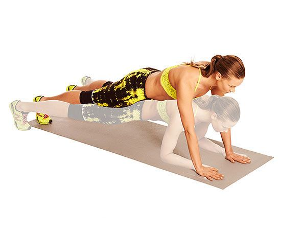 Torch Fat in 10 Minutes: Plank-Straddle Hop