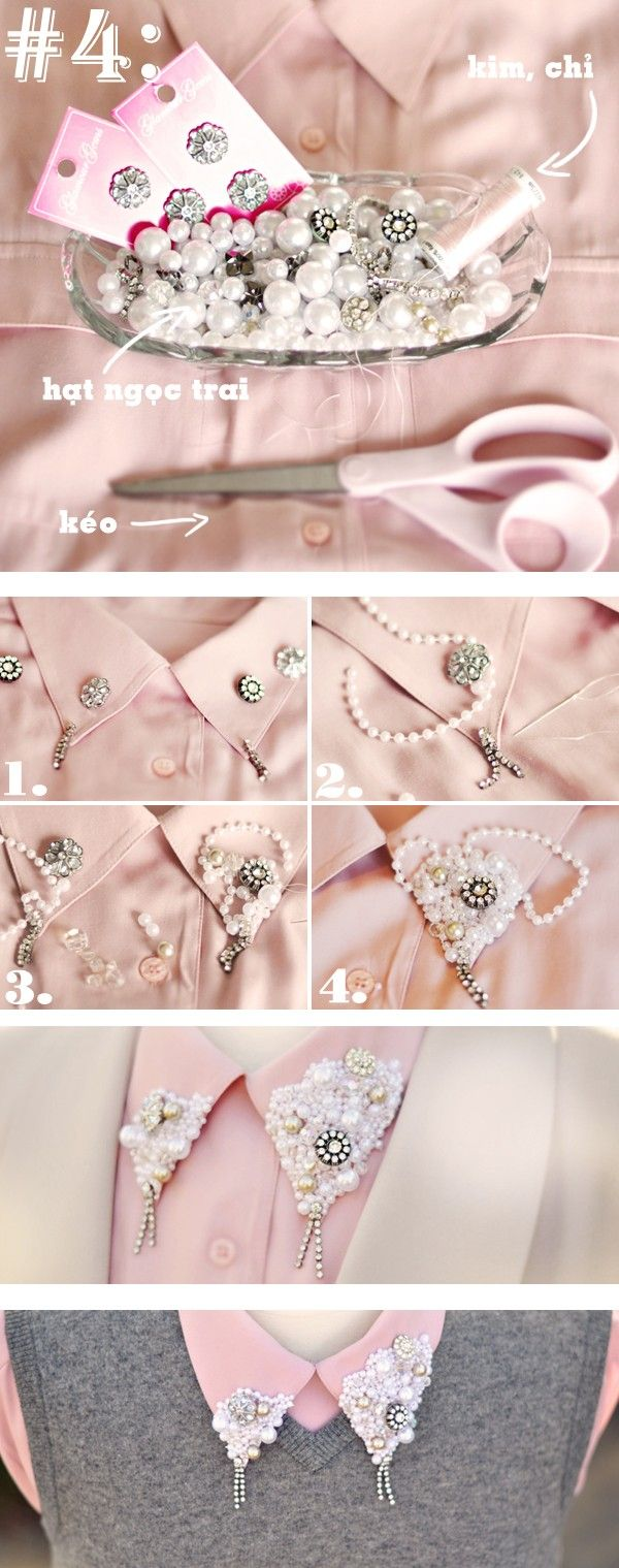 this is a bit much but i love the idea of embellishing a collar a little bit!