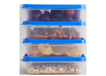 Organise your kitchen with our food storage containers. It's plastic storage made easy!