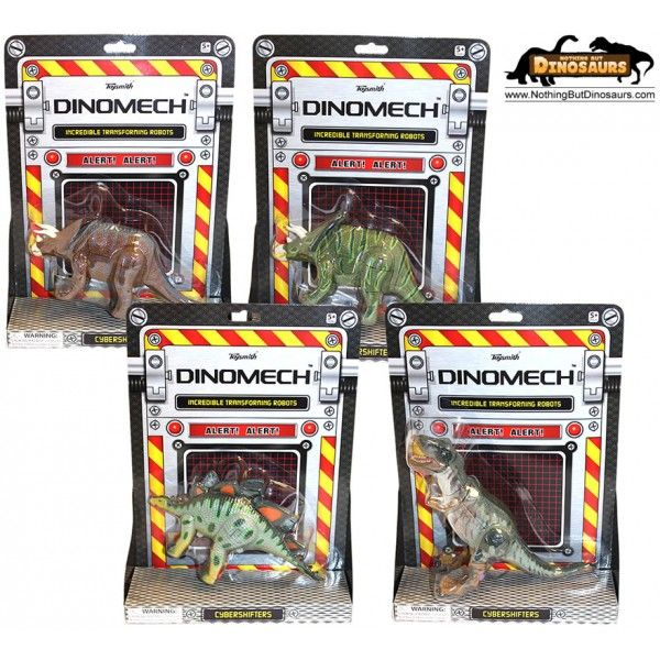 ToySmith Dino Mech Cyber Shifter Transforming T-Rex, Triceratops, Chasmosaurus And Stegosaurus Dinosaur Toy Action Figures 1523 | Nothing But Dinosaurs