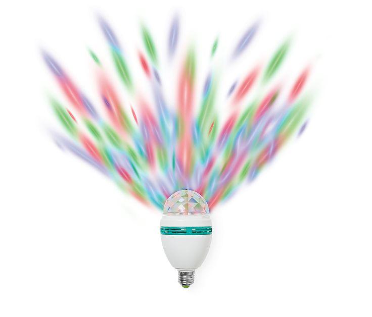 Wie viele Discofans braucht man, um eine Glühbirne reinzudrehen? Nur einen und die Party kann steigen! Disko-Licht für spontane Tanzpartys für 6 €.