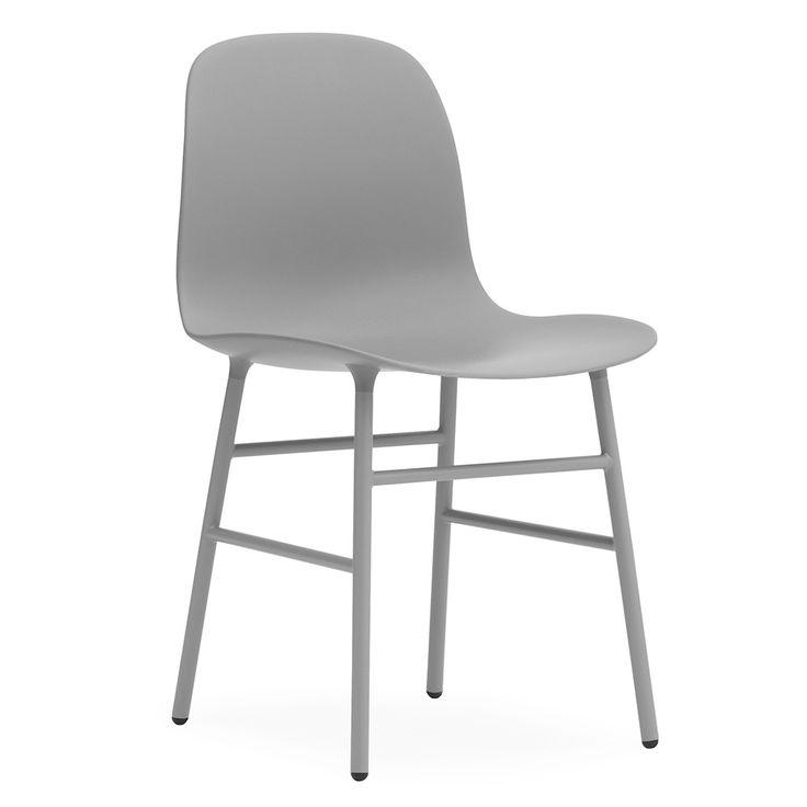 Form Stol, Grå/Stål 2125 kr. - RoyalDesign.se