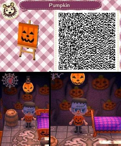 jack o lantern to put onto festival lantern to make it glow animal - Halloween Animal Crossing City Folk