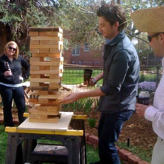 Giant Backyard Games: We're So Doing Life-size Jenga At Our Wedding! In Addition