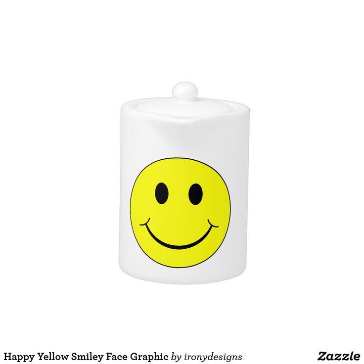 Graphique souriant jaune heureux de visage