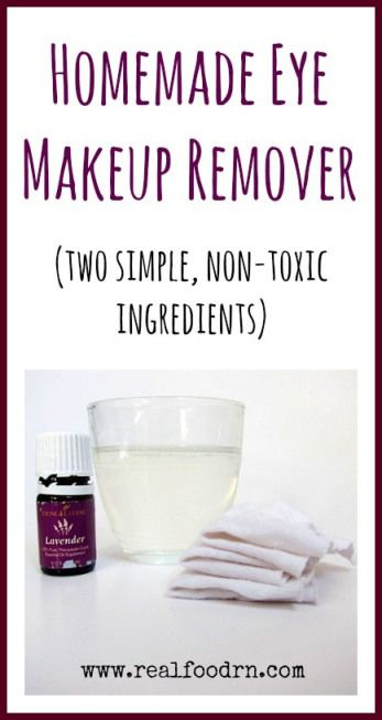 Homemade Eye Makeup Remover with Lavender {Detox Your Home Series}. Two simple non-toxic ingredients that remove even the toughest eye makeup. Very gentle on your eyes and moisturizing to the delicate skin around them
