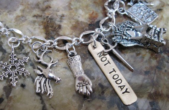 Game of Thrones - NOT TODAY,  A Song of Ice and Fire, Knight Kings Dragon, Iron Throne, Castle Stark on Etsy, $20.99