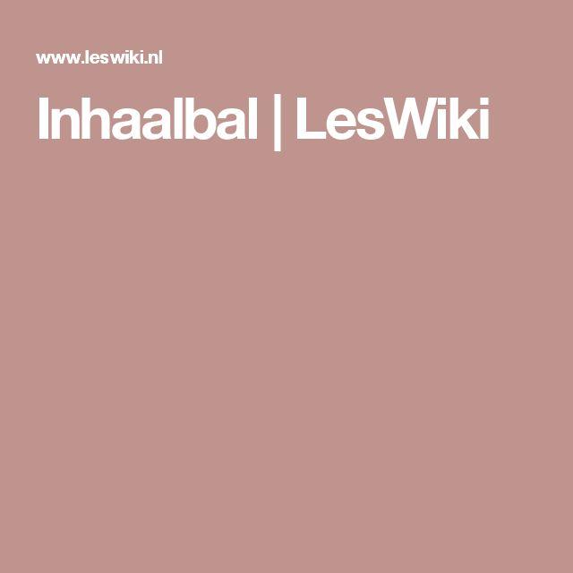 Inhaalbal | LesWiki