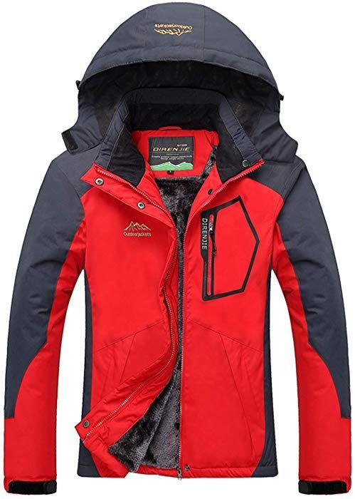 YXP Women s Mountain Waterproof Ski Jacket Windproof Rain Jacket(Rose Red 916b8d52c