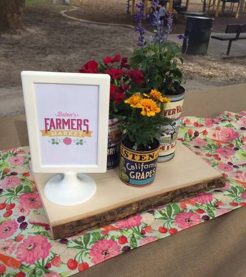 Farmer's Market First Birthday