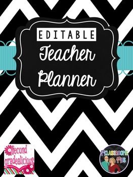 Editable Teacher BinderThis editable teacher binder includes matching dividers, colorful calendars, tons of templates for lesson planning, behavior tracking and more, matching spine labels, common core checklist and more. It comes with a PDF file if you just want to print and write on the pages or an editable powerpoint file.