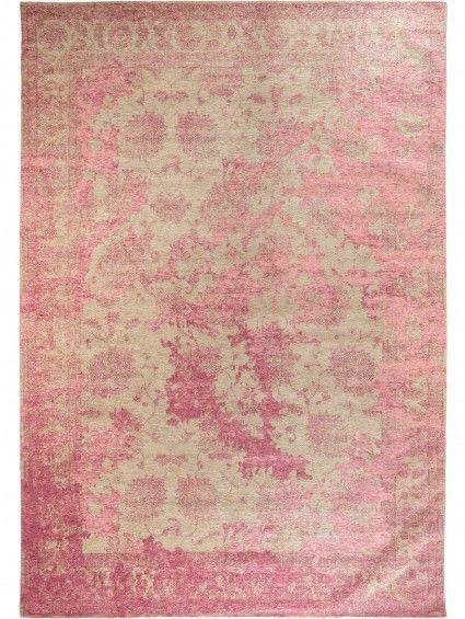 Luxury Flachgewebe Teppich Frencie Vintage Rot Orange x cm