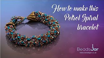 How to make this Super Duo Duet Bracelet | Seed Beads - YouTube