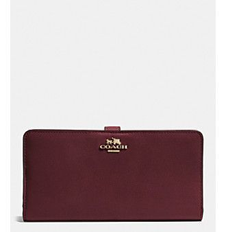 COACH SKINNY WALLET IN LEATHER