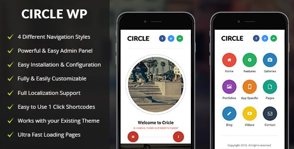 Circle Mobile | Mobile WordPress Theme