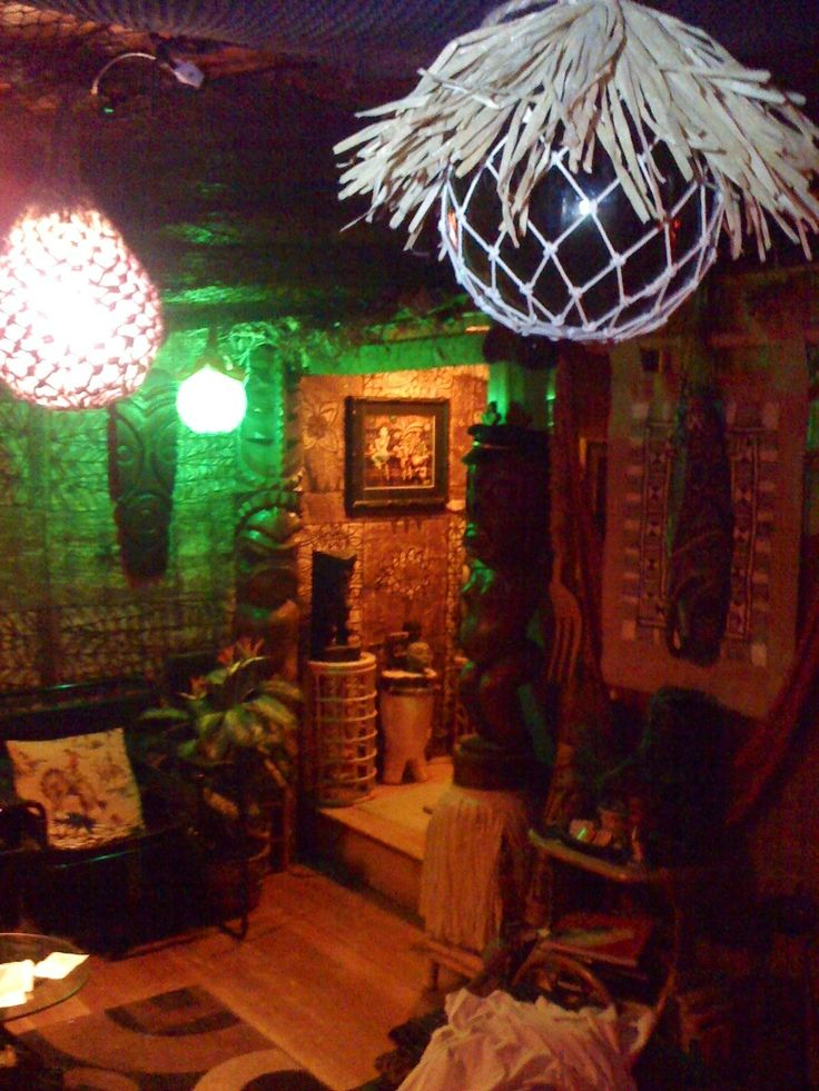135 photos of tiki bar decor in readers homes for Tiki decorations home