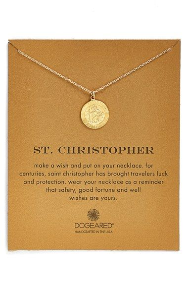 Dogeared 'St. Christopher' Boxed Pendant Necklace available at #Nordstrom