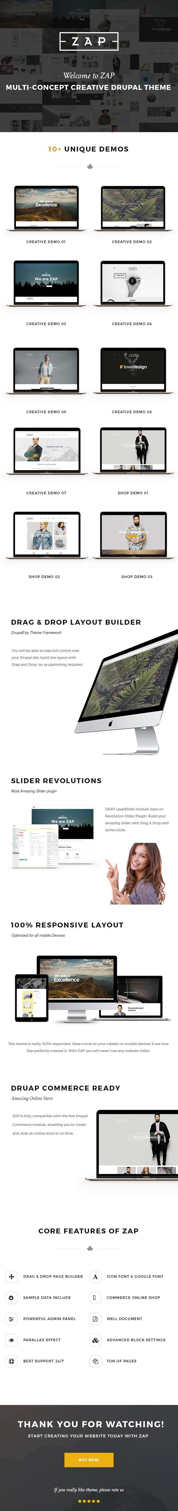 zap multi purpose drupal theme cms themes themeforest download http