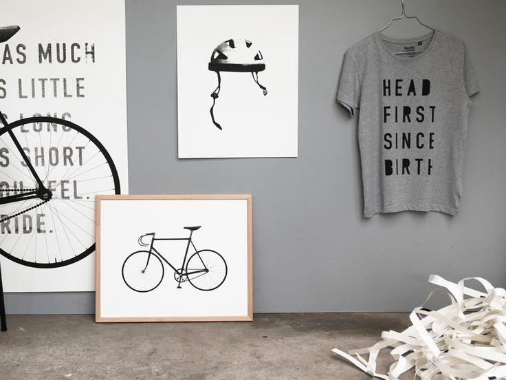 Helmet, Ride and Head First, all screen printed by hand in our garage printshop