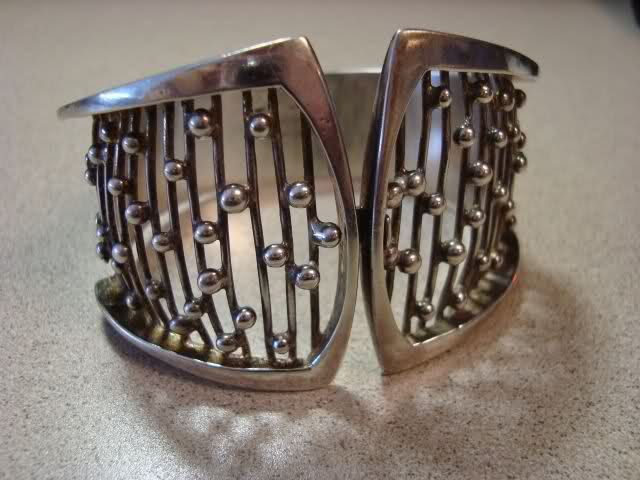 Made in Stockholm, maker mark is ICO.: Cuffs Bracelets, Jewelry Bracelets Cuffs, Jewellery Embellishments, Vintage Modernist Jewelry, Balconies Railings, 1000 Bangles Bracelets Cuffs, Bracelets Bangle Cuffs, Bangles And Cuffs, Bracelets Bangles Cuffs
