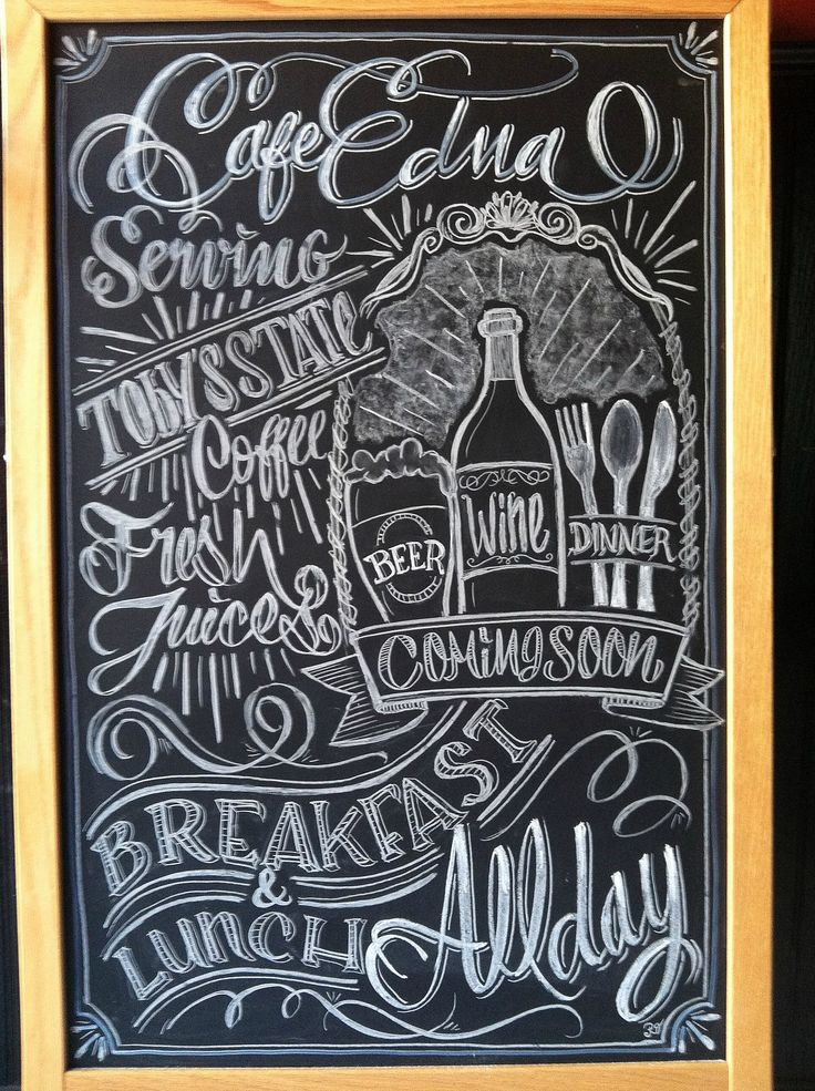 Calligraphy Coffee Signs