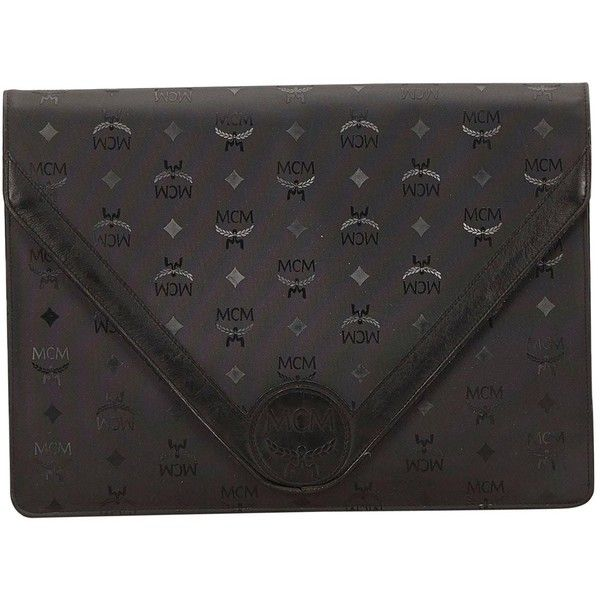 Pre-owned Mcm Clutch Bag ($340) ❤ liked on Polyvore featuring bags, handbags, clutches, black, women bags clutch bags, preowned handbags, plastic handbags, mcm, pre owned handbag and mcm handbags