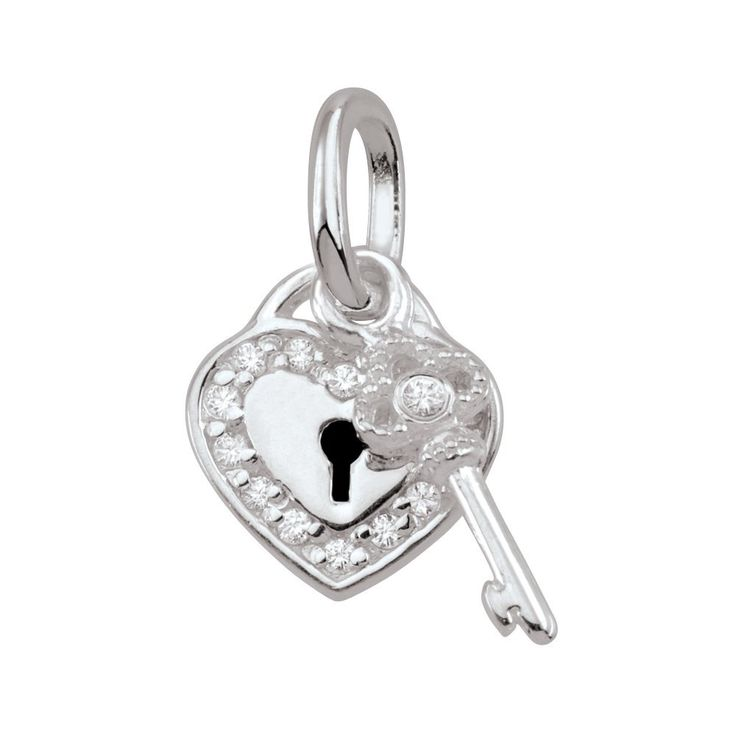 """PersonaPhi Sterling Silver Charm, Symbols of Love Collection, Key to My Heart. PersonaPhi charms are crafted in 925 Sterling Silver. Display Card Reads: """"It's the only way into your heart - guard it carefully."""". Its unique """"message in a bottle"""" package carries the amulet's meaning to its wearer. Can be layered together on a Persona Phi necklace or bangle (not compatible with Persona or Pandora brand). Choose any combination of amulets that inspire you and createa meaningful personal..."""