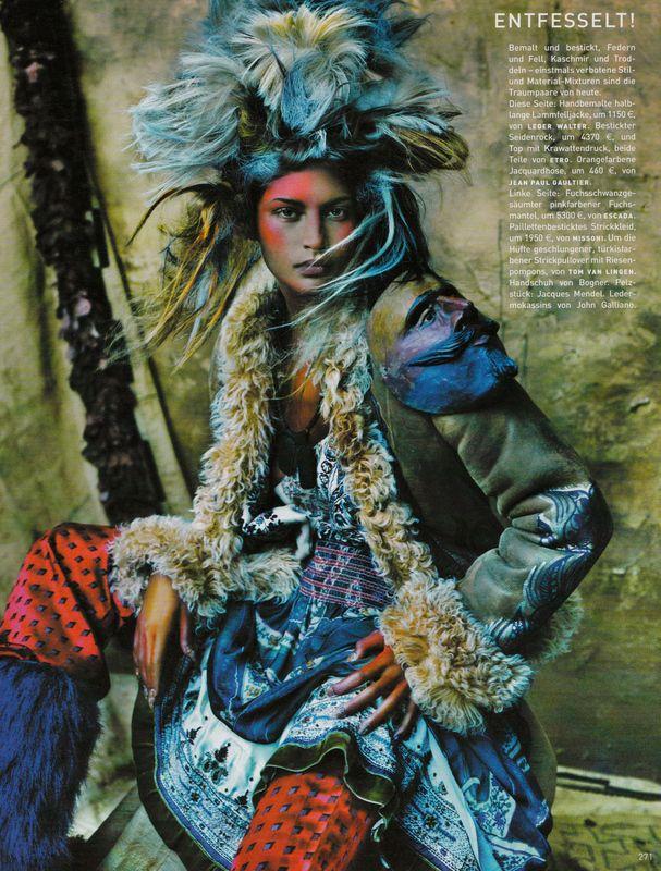 Entfesselt | by Ruven Afanador | Vogue Germany, Dec 2002