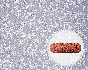 Wild Flowers Patterned Paint Roller by Lear's by LearsInteriors