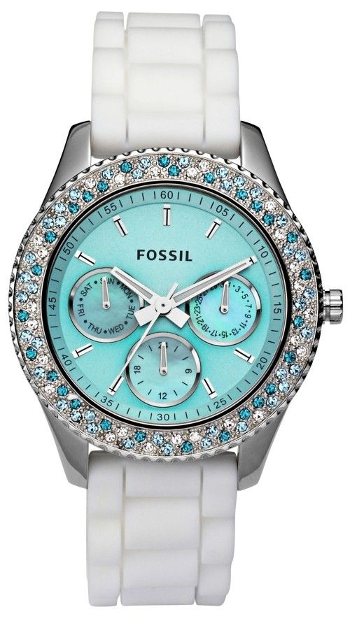 Fossil Watch Tiffany blue color face and white