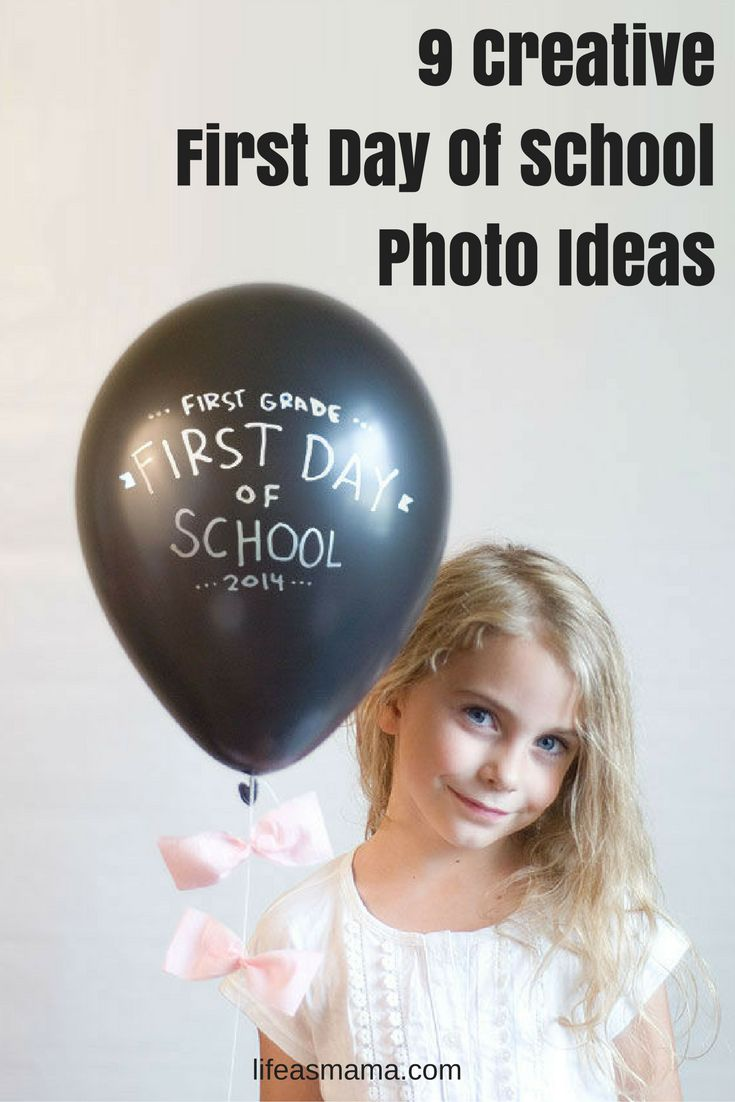"These photo ideas are seriously adorable, especially the one with the ""First day of school"" T-shirt!"