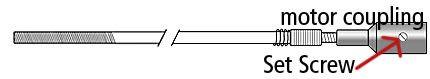 Foredom UA114-4 Set Screws for Square Drive Shafts, Motor Coupling End, 4pk-1