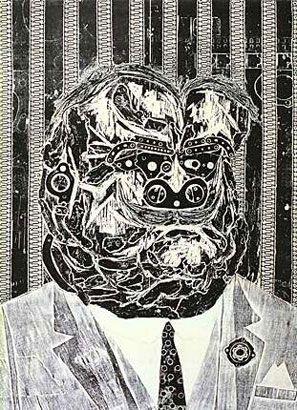 Don Juan, amigo de Ramona, 1963, xilocollage, 93,5 x 64,4 cm. Col. privada