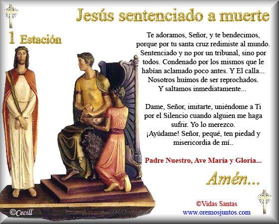 Imágenes de Cecill: Estaciones del Via Crucis † 1- Jesús sentenciado a Muerte