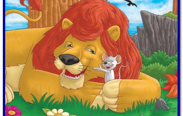 قصص اطفال مكتوبة هادفة قصيره قصة الاسد ملك الغابة والفأر الصغير Lion And The Mouse Lion Babies Stories