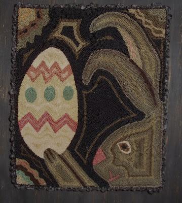 easter egg & bunnyRugs Hooks, Punch Needle, Eggs Bunnies, Wool Hooks, Wool Rugs, Easter Eggs, Needle Punch, Hooks Rugs, Punchneedle