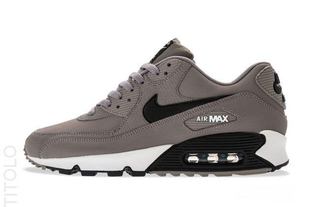 537384-001 Nike Air Max 90 Essential - Sport Grey / White - Black-1