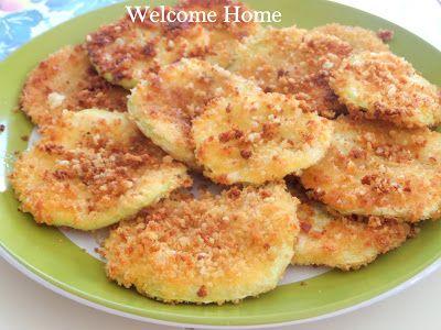 Welcome Home  panko breaded patty pan squash