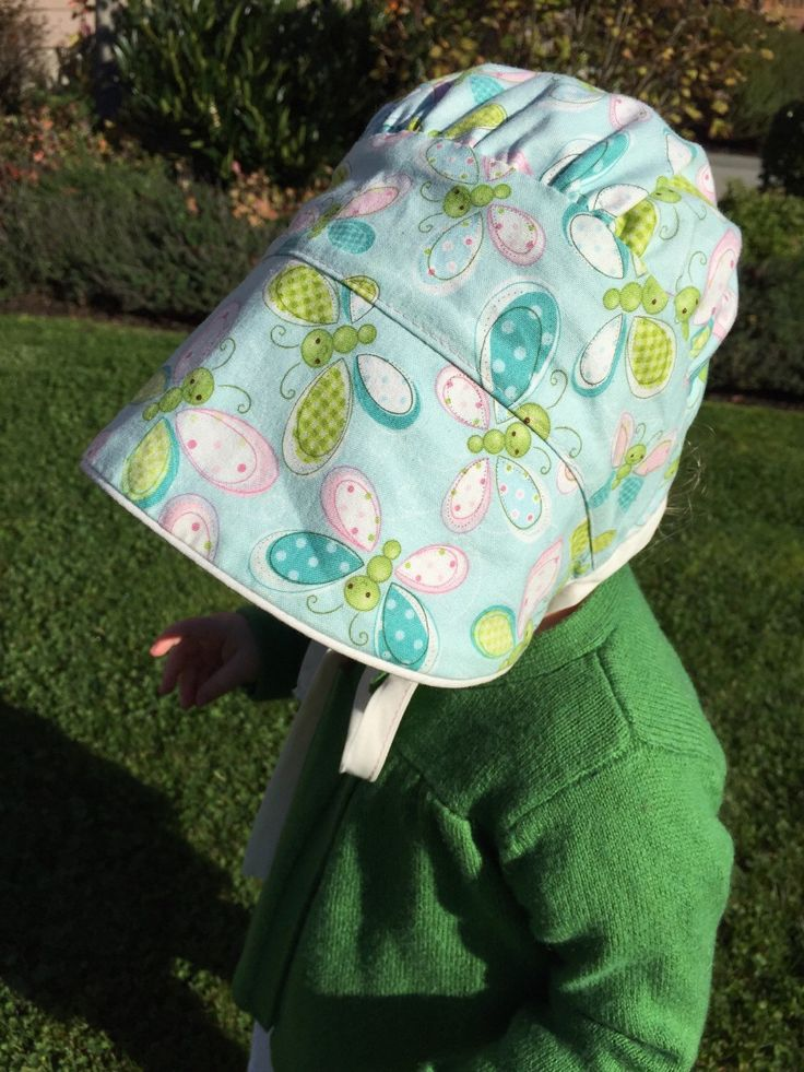 A personal favorite from my Etsy shop https://www.etsy.com/ca/listing/254429627/peekaboo-bonnet-made-by-rae-reversible