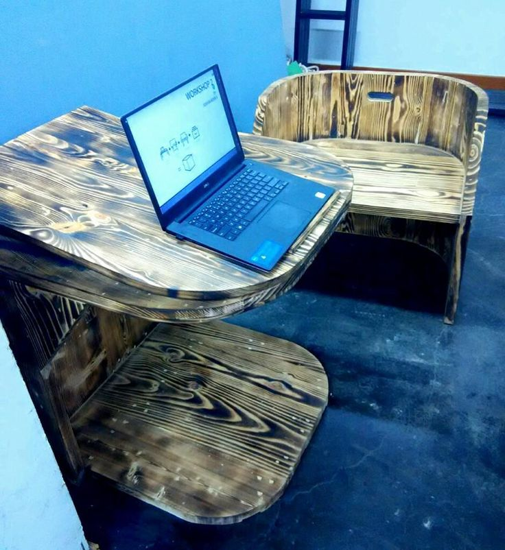 Personal study/game playing table and chair by Joshua Kevin Setiawan. WS2 DP 2014 UPH, Feb2017