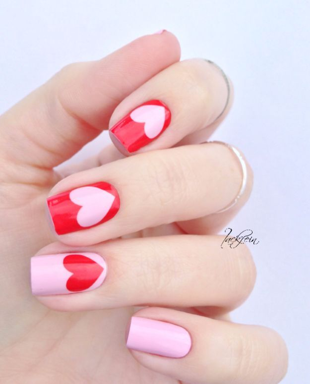Nail Art Simple 2 Warna: 37 Quick But Awesome 5 Minute Nail Art Ideas