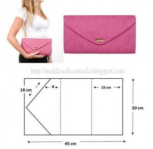 Easy basi  envelope clutch template