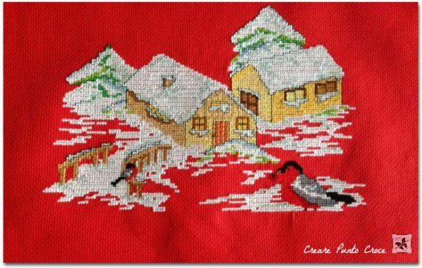 Paesaggio natalizio punto croce #puntodecruz #crossstitch