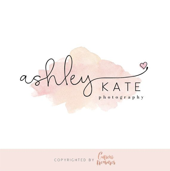Waterolor pink logo with love blush logo by CutiexoTreasures